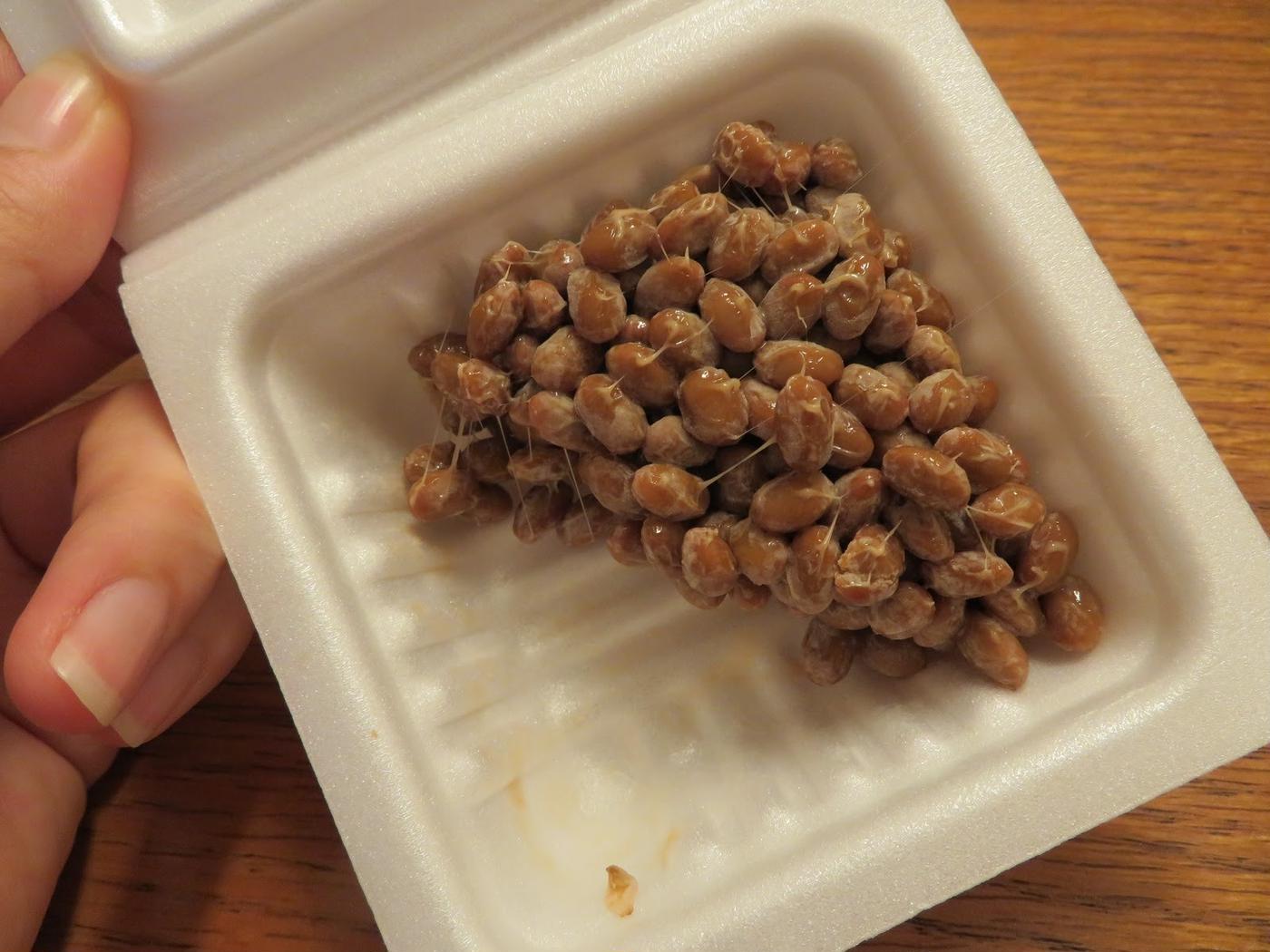 宝来納豆-ミニサイズー開封