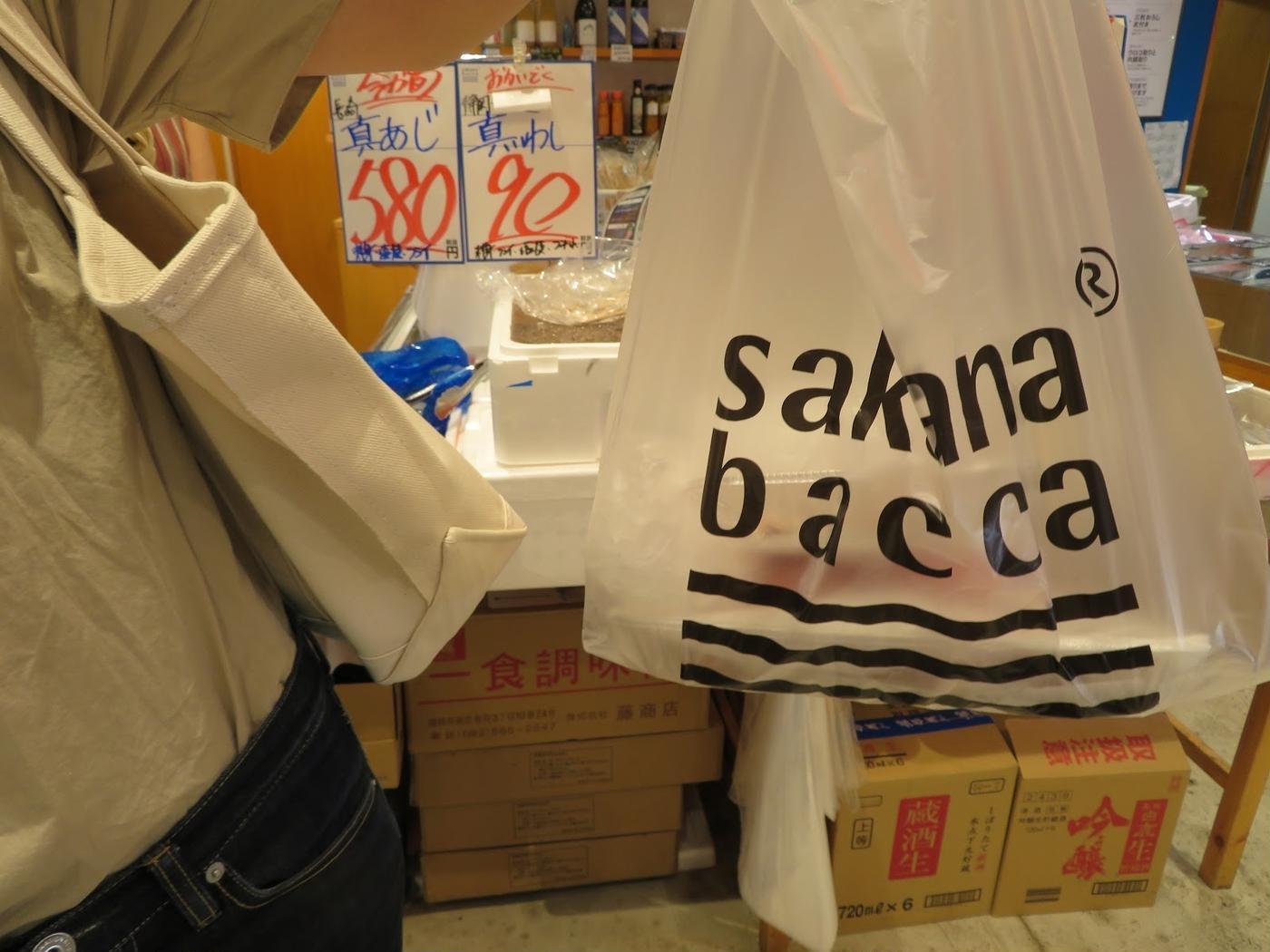 サカナバッカレジ袋